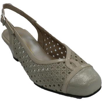 Zapatos Mujer Sandalias Trebede Zapato vestir mujer abierto detrás calad beige