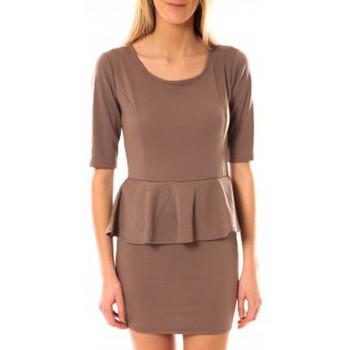 textil Mujer Vestidos cortos Tcqb Robe Moda Fashion Taupe Marrón