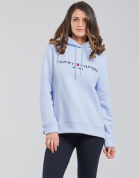 textil Mujer Sudaderas Tommy Hilfiger TH ESS HILFIGER HOODIE LS Azul / Celeste