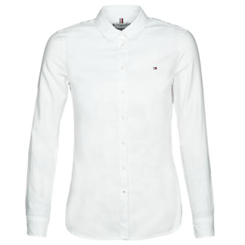 textil Mujer camisas Tommy Hilfiger HERITAGE REGULAR FIT SHIRT Blanco