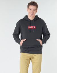 textil Hombre sudaderas Levi's RELAXED GRAPHIC HOODIE Negro