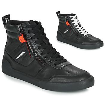 Zapatos Hombre Zapatillas altas Diesel S-DVELOWS Negro