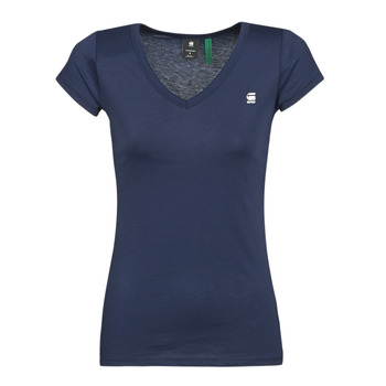 textil Mujer Camisetas manga corta G-Star Raw EYBEN SLIM V T WMN SS Azul