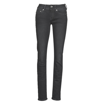 textil Mujer vaqueros rectos G-Star Raw MIDGE MID STRAIGHT WMN Gris