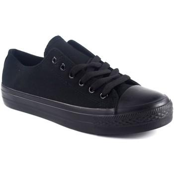 Zapatos Hombre Zapatillas bajas Bienve Lona caballero  1309 negro Negro