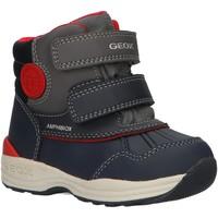 Zapatos Niño Botas de nieve Geox B841GA 054FU B N GULP Azul