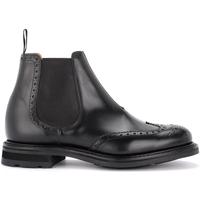 Zapatos Hombre Botas de caña baja Church's Biker Coldbury de piel de ternera cepillada negra Negro