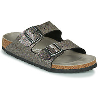 Zapatos Mujer Zuecos (Mules) Birkenstock ARIZONA Negro / Plateado