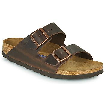 Zapatos Mujer Zuecos (Mules) Birkenstock ARIZONA SFB LEATHER Marrón