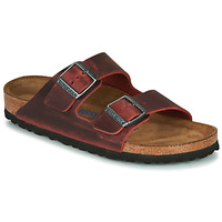 Zapatos Mujer Zuecos (Mules) Birkenstock ARIZONA SFB LEATHER Burdeo