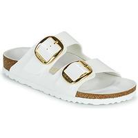 Zapatos Mujer Zuecos (Mules) Birkenstock ARIZONA BIG BUCKLE Blanco / Oro