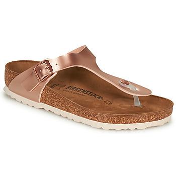 Zapatos Mujer Chanclas Birkenstock GIZEH Rosa / Oro