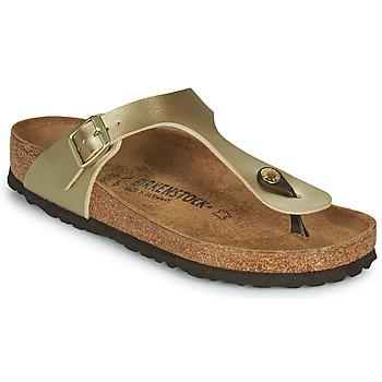 Zapatos Mujer Chanclas Birkenstock GIZEH Gold / Dorado