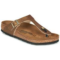 Zapatos Mujer Chanclas Birkenstock GIZEH Oro / Leopardo