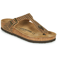 Zapatos Mujer Chanclas Birkenstock GIZEH LEATHER Marrón