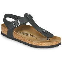Zapatos Mujer Sandalias Birkenstock KAIRO LEATHER Negro