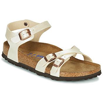 Zapatos Mujer Sandalias Birkenstock KUMBA SFB Beige