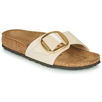 Zapatos Mujer Zuecos (Mules) Birkenstock MADRID BIG BUCKLE Perla / Blanco