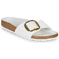 Zapatos Mujer Zuecos (Mules) Birkenstock MADRID BIG BUCKLE Blanco / Barniz