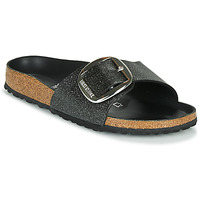 Zapatos Mujer Zuecos (Mules) Birkenstock MADRID BIG BUCKLE Negro / Glitter