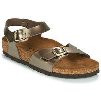 Zapatos Mujer Sandalias Birkenstock RIO Bronce