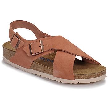 Zapatos Mujer Sandalias Birkenstock TULUM SFB LEATHER Tierra / Rojo / Tierra / Rojo