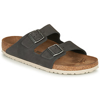Zapatos Hombre Zuecos (Mules) Birkenstock ARIZONA LEATHER Gris