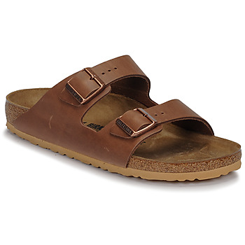 Zapatos Hombre Zuecos (Mules) Birkenstock ARIZONA LEATHER Antique / Pull / Espresso