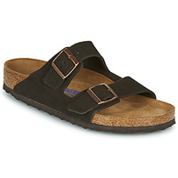 Zapatos Hombre Zuecos (Mules) Birkenstock ARIZONA SFB LEATHER Marrón