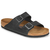 Zapatos Hombre Zuecos (Mules) Birkenstock ARIZONA SFB LEATHER Negro