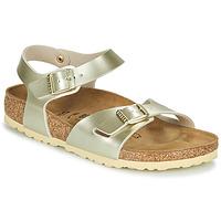 Zapatos Niña Sandalias Birkenstock RIO Oro