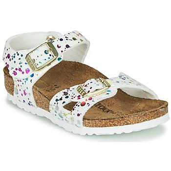 Zapatos Niña Sandalias Birkenstock RIO Blanco / Multicolor