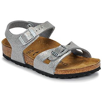 Zapatos Niña Sandalias Birkenstock RIO Glitter / Silver