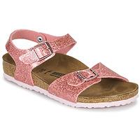 Zapatos Niña Sandalias Birkenstock RIO PLAIN Cosmic / Sparkle / Old / Rosa
