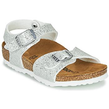 Zapatos Niña Sandalias Birkenstock RIO PLAIN Blanco