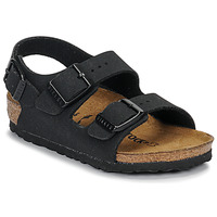 Zapatos Niño Sandalias Birkenstock MILANO Nubuck / Negro