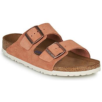Zapatos Mujer Zuecos (Mules) Birkenstock ARIZONA SFB LEATHER Rojizo