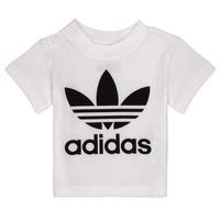 textil Niños camisetas manga corta adidas Originals MAELYS Blanco