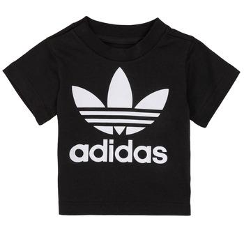 textil Niños camisetas manga corta adidas Originals MARGOT Negro