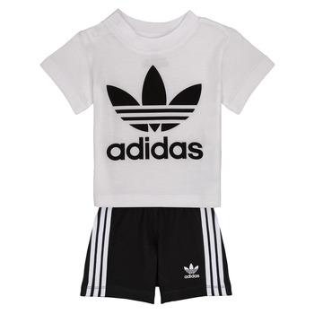 textil Niño Conjunto adidas Originals CAROLINE Blanco / Negro