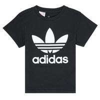 textil Niños camisetas manga corta adidas Originals LEILA Negro