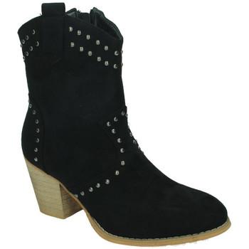 Zapatos Mujer Botines Flyfor Botines tachas Negro