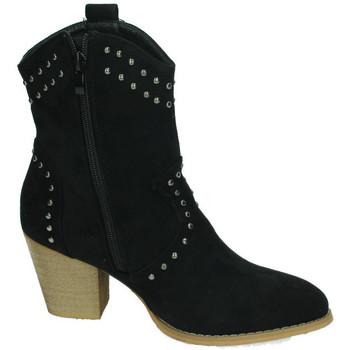 Flyfor Botines tachas Negro - Zapatos Botines Mujer 2420