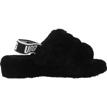 UGG FLUFF YEAH Negro - Zapatos Pantuflas Mujer 9520