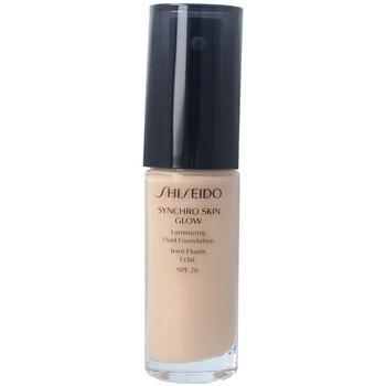 Belleza Mujer Base de maquillaje Shiseido Synchro Skin Glow Luminizing Fluid Foundation n3 30 ml