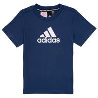 textil Niño Camisetas manga corta adidas Performance BRIAN Marino