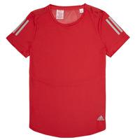textil Niña camisetas manga corta adidas Performance MELINDA Rojo