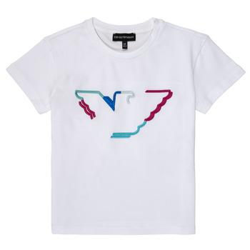 textil Niña Camisetas manga corta Emporio Armani Amin Blanco