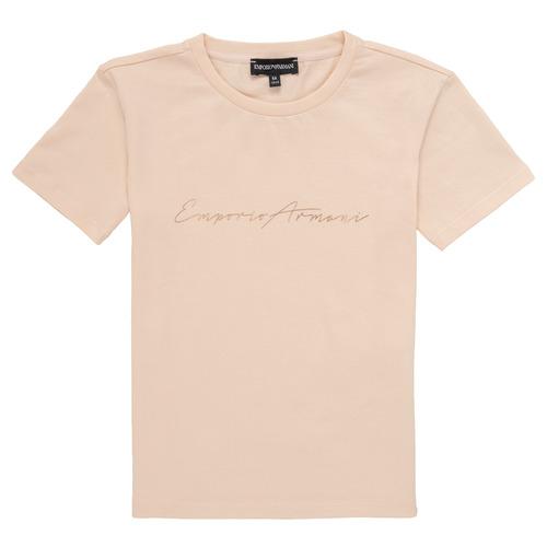 textil Niña camisetas manga corta Emporio Armani Armel Rosa