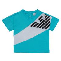 textil Niño Camisetas manga corta Emporio Armani Alois Azul / Blanco